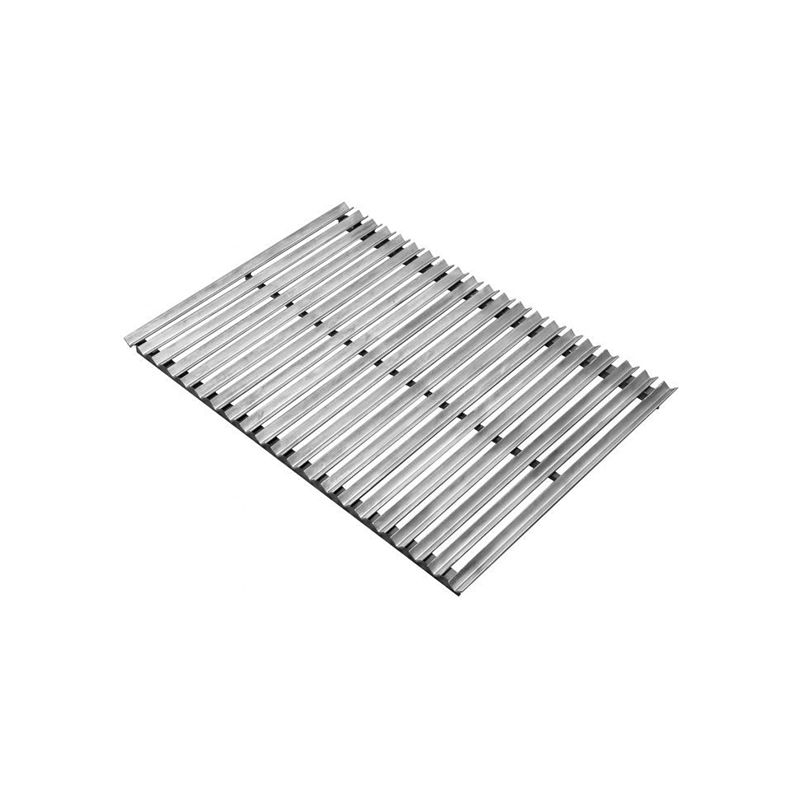Cooking Grate Stainless Steel V-Channel Argentine w/side Brasero Single Grate 48